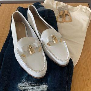 Michael Kors Alice White Paten Loafers